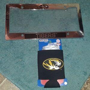 Missouri Tigers License plate Frame & can koozie